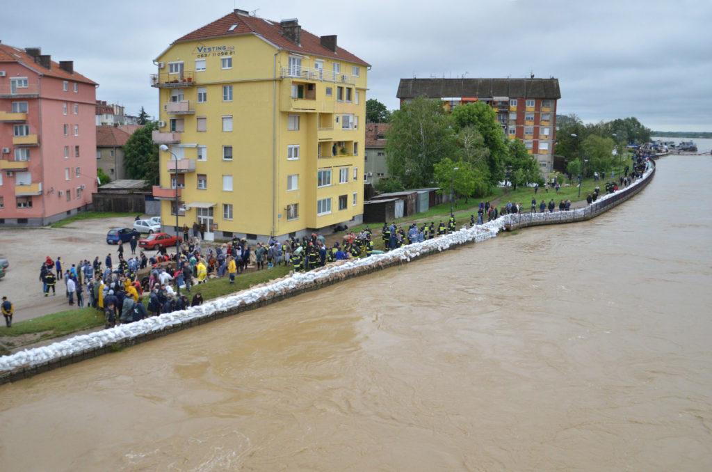 Историјски водостај реке Саве код Сремске Митровице, 17.05.2014.