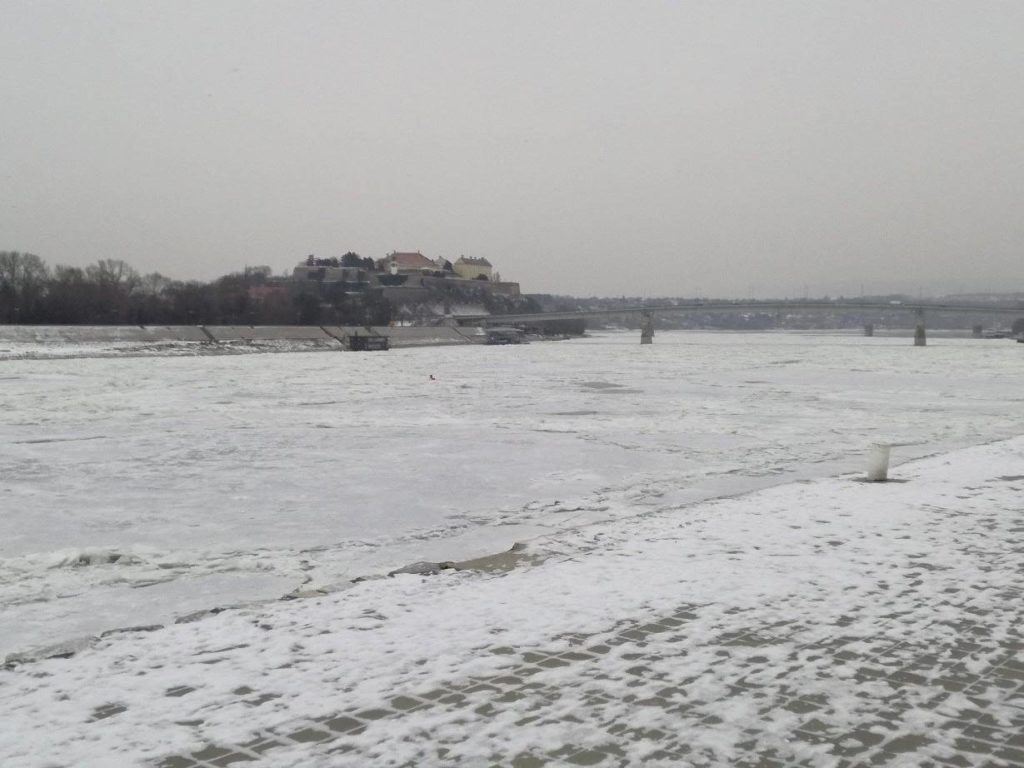 Dunav kod Novog Sada, 9. 1. 2017.