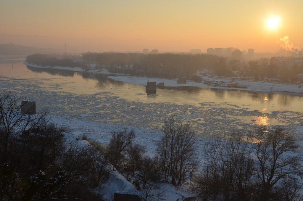 Jutro na Dunavu kod Novog Sada, 24. 1. 2017.